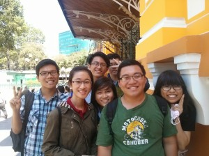 Met this lovely bunch working on their project- Cross Cultural Tourism in Vietnam.