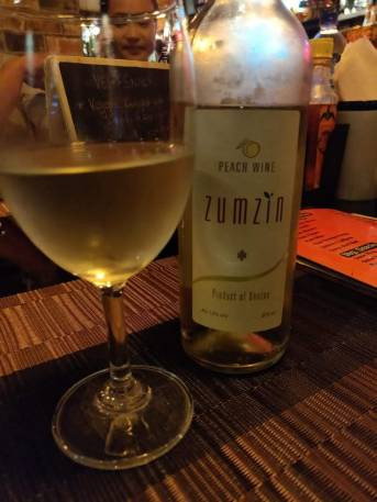 Zumzin, Bhutan's popular peach wine.