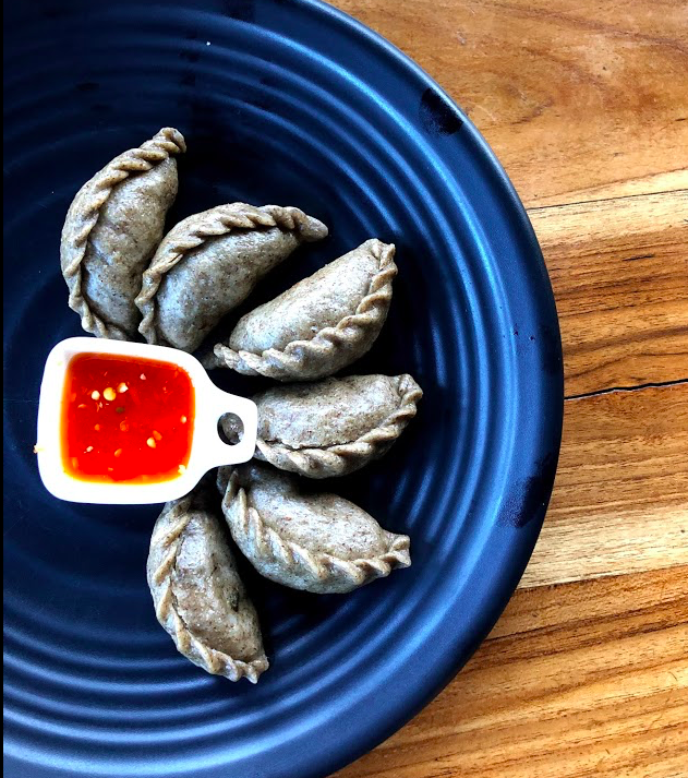 Buckwheat momos, a special vegetarian food from Bhutan. Popular in a Ha region.